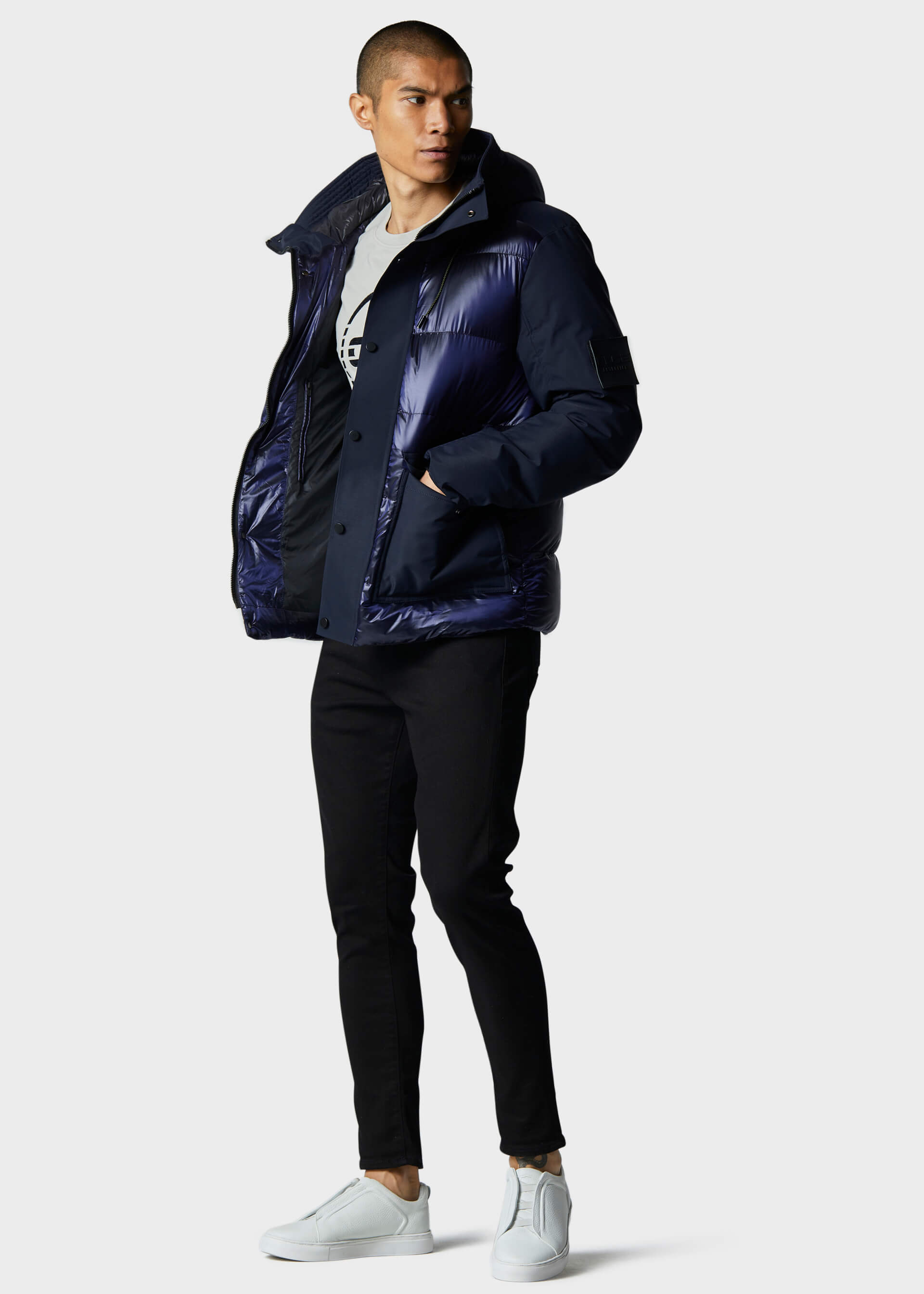 Manorr Navy Jacket second_image