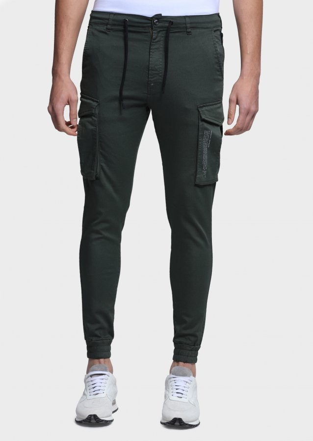 Moriarty Crate Khaki Slim Fit Cargo Pants