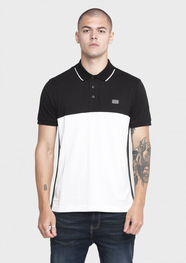 Cloth Off White/Black Polo T Shirts
