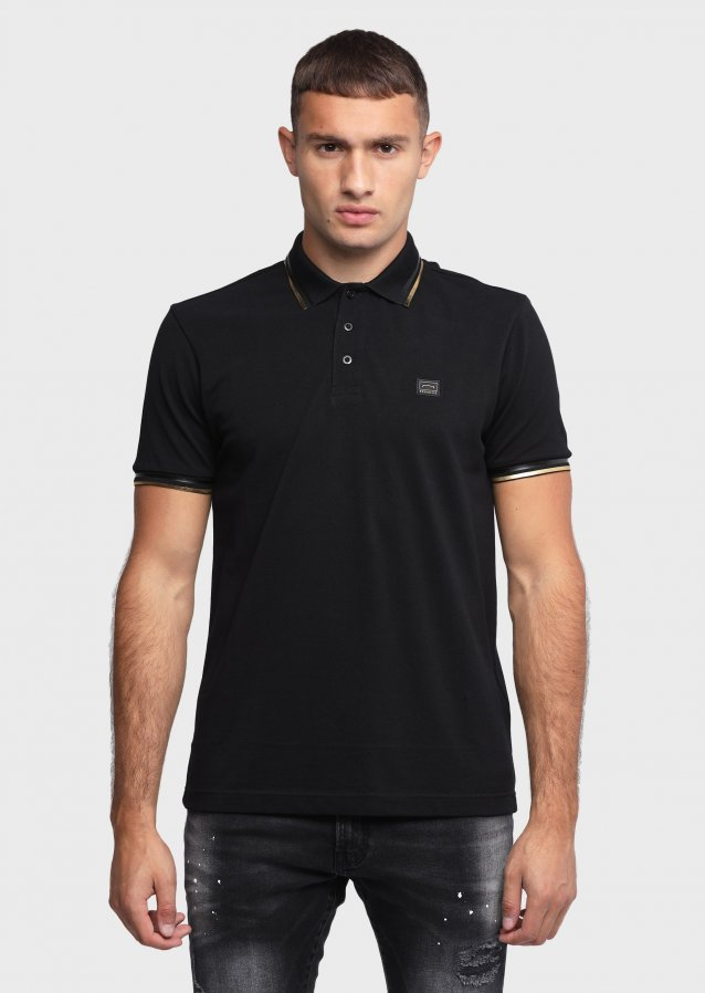 Lustrous Black Polo Shirt