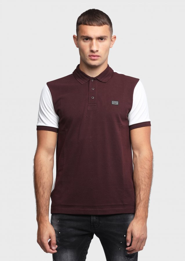 Marcella Burgundy Polo Shirt
