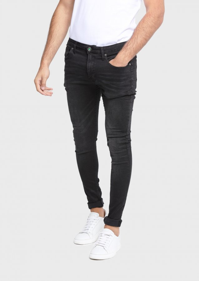 State Lak 409 Super Skinny Washed Out Black Jeans