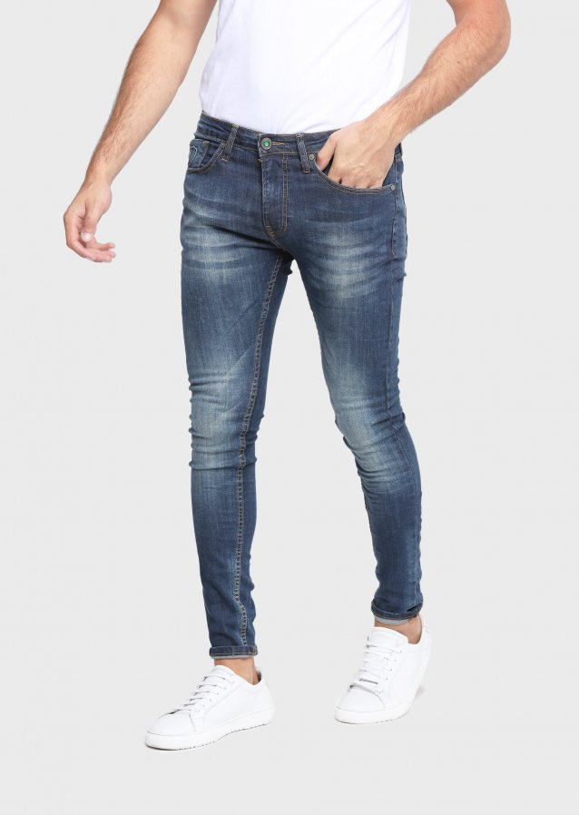 State Lak 600 Super Skinny Mid Wash Jeans