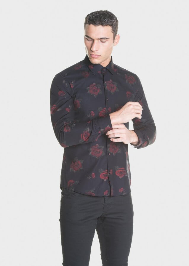 Casual shirt with all-over print