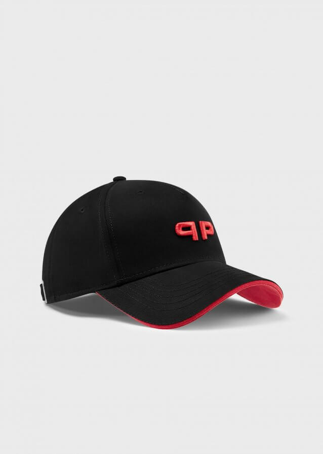 Baseball cap with embroidered branding
