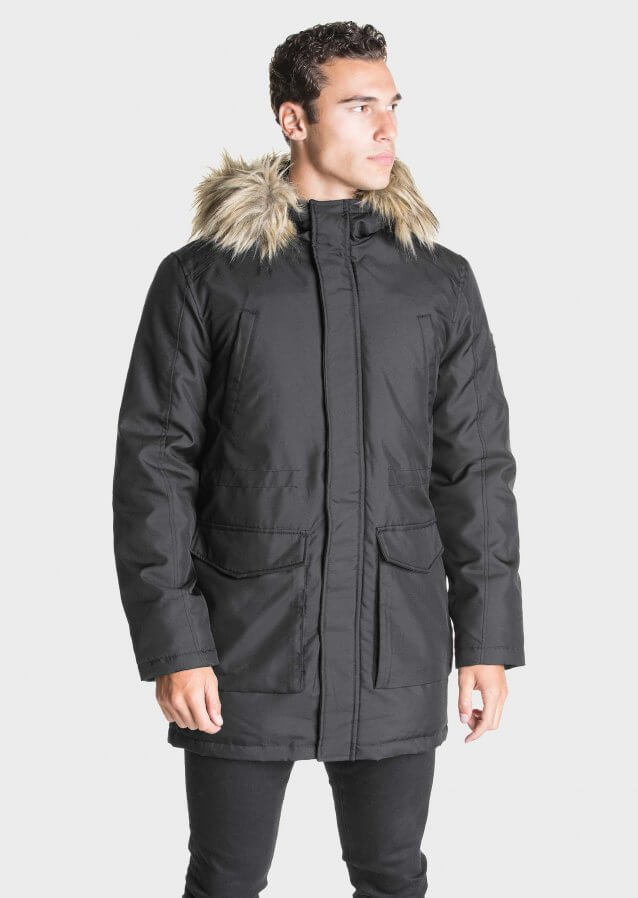 Parka police men's clothing