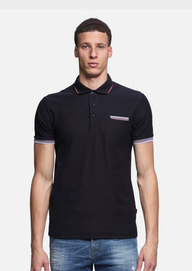 Paced Navy Polo Shirt