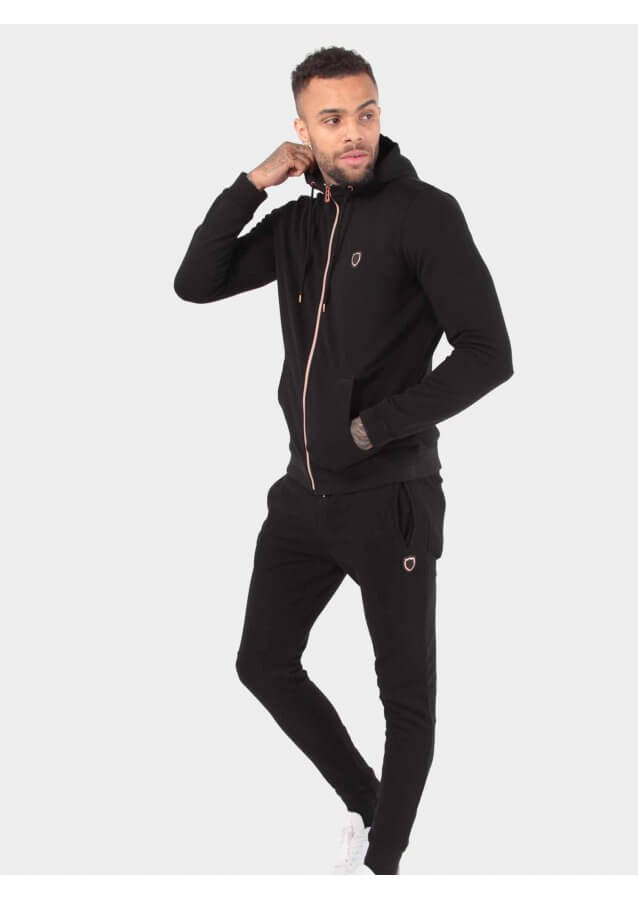 Maira Black Jogger Suit