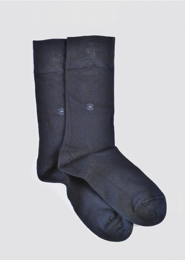 Pair Navy Socks
