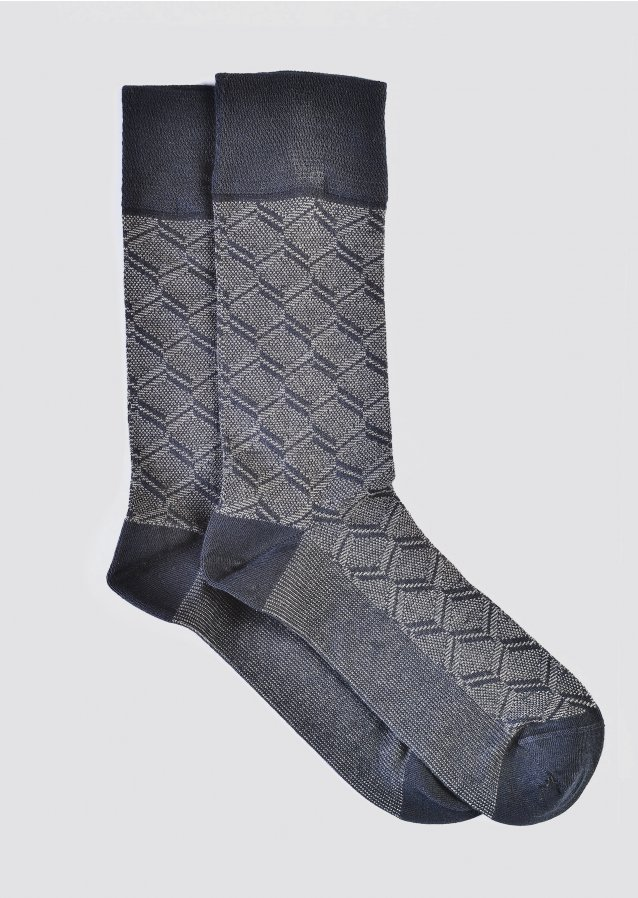Pattern Navy Socks