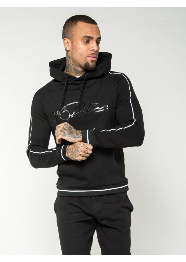 Oxide Black Hooded Jumper