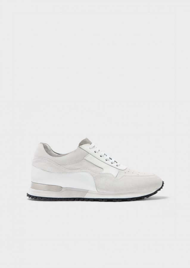 Sneakers in calf leather and suede
