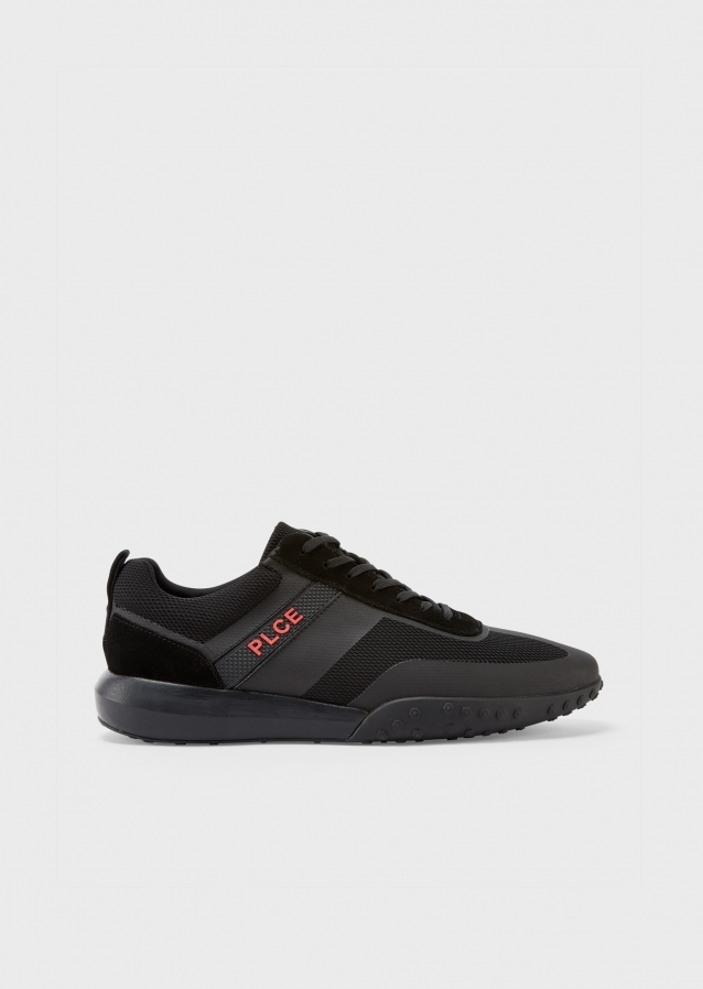 Project Technical Black Fabric Sneakers