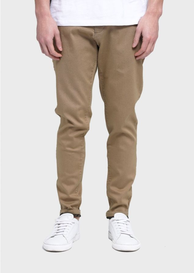 Moriarty Berne Slim Fit Chinos (Sand;Long;28)
