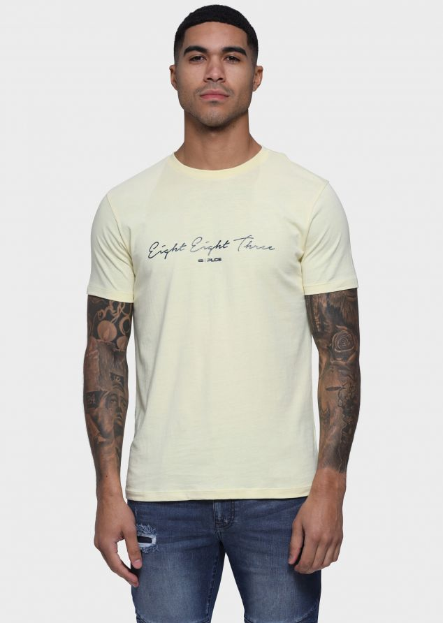 Surcle T-Shirts (Soft Yellow;S)