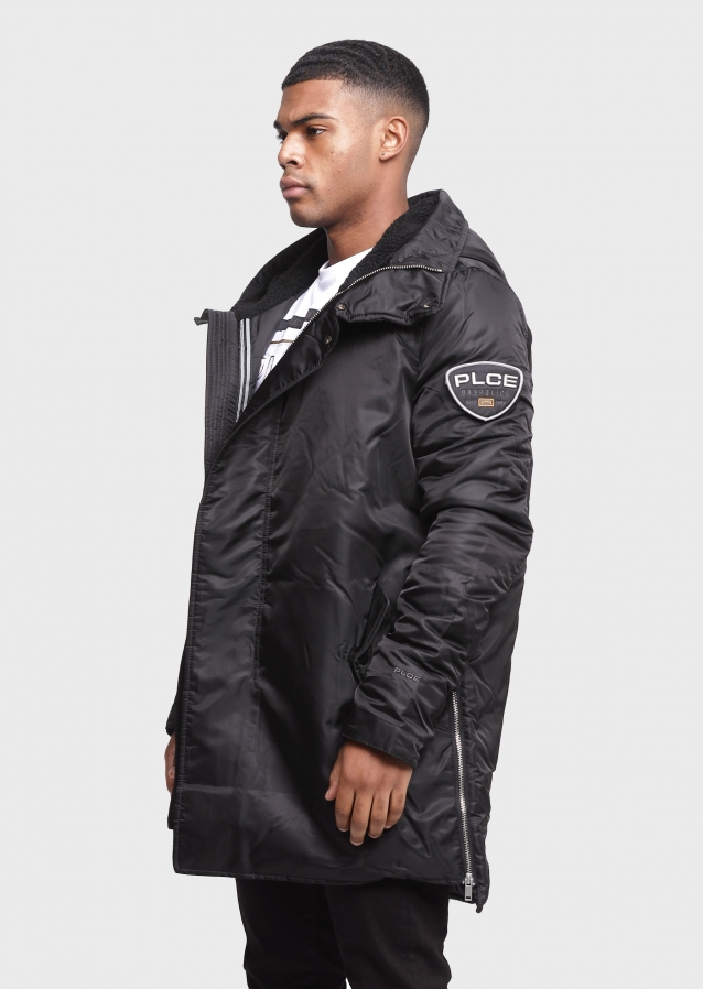 Pole Black Parka Coats