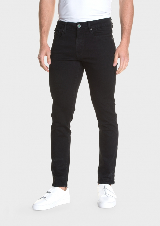 Moriarty Activeflex Super Stretch Slim Fit Black Jeans