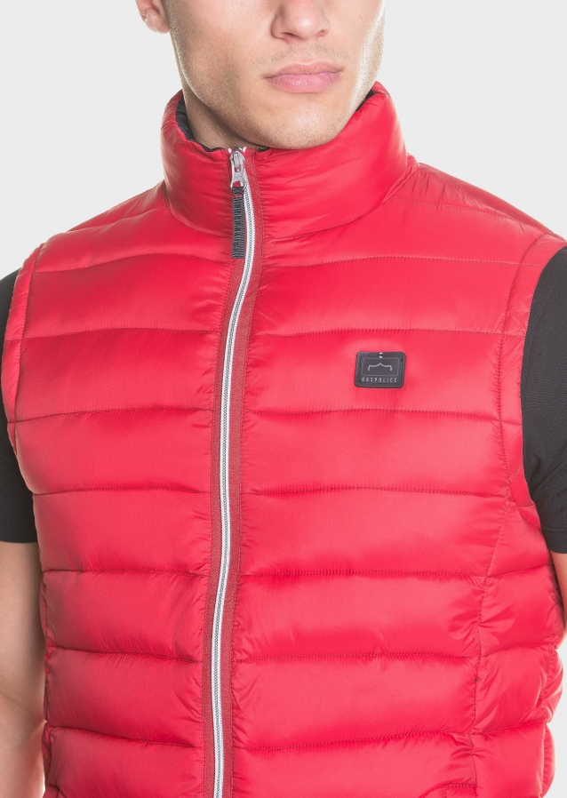 Quilted, padded packable sleeveless jacket