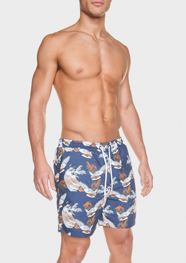 Relic Dark Grey Swim Shorts