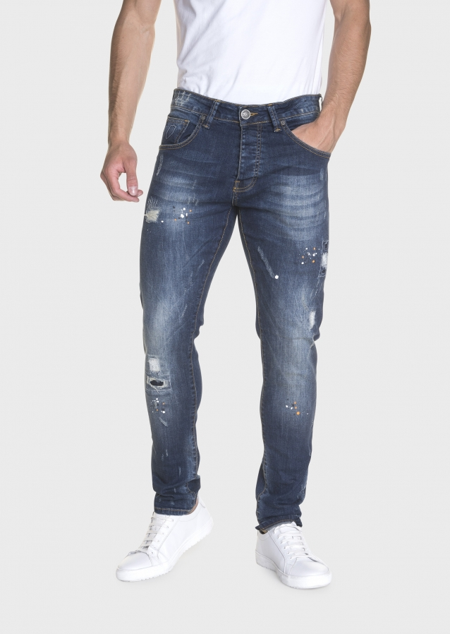 Moriarty Tal 470 Slim Stretched Painted Jeans