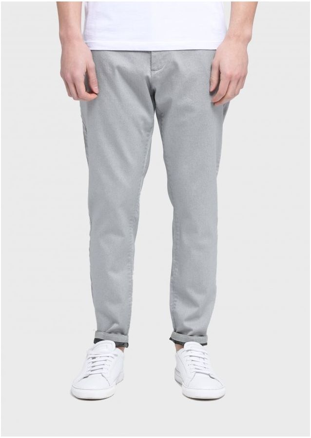 Moriarty Berne Slim Fit Chinos (Grey;Long;28)
