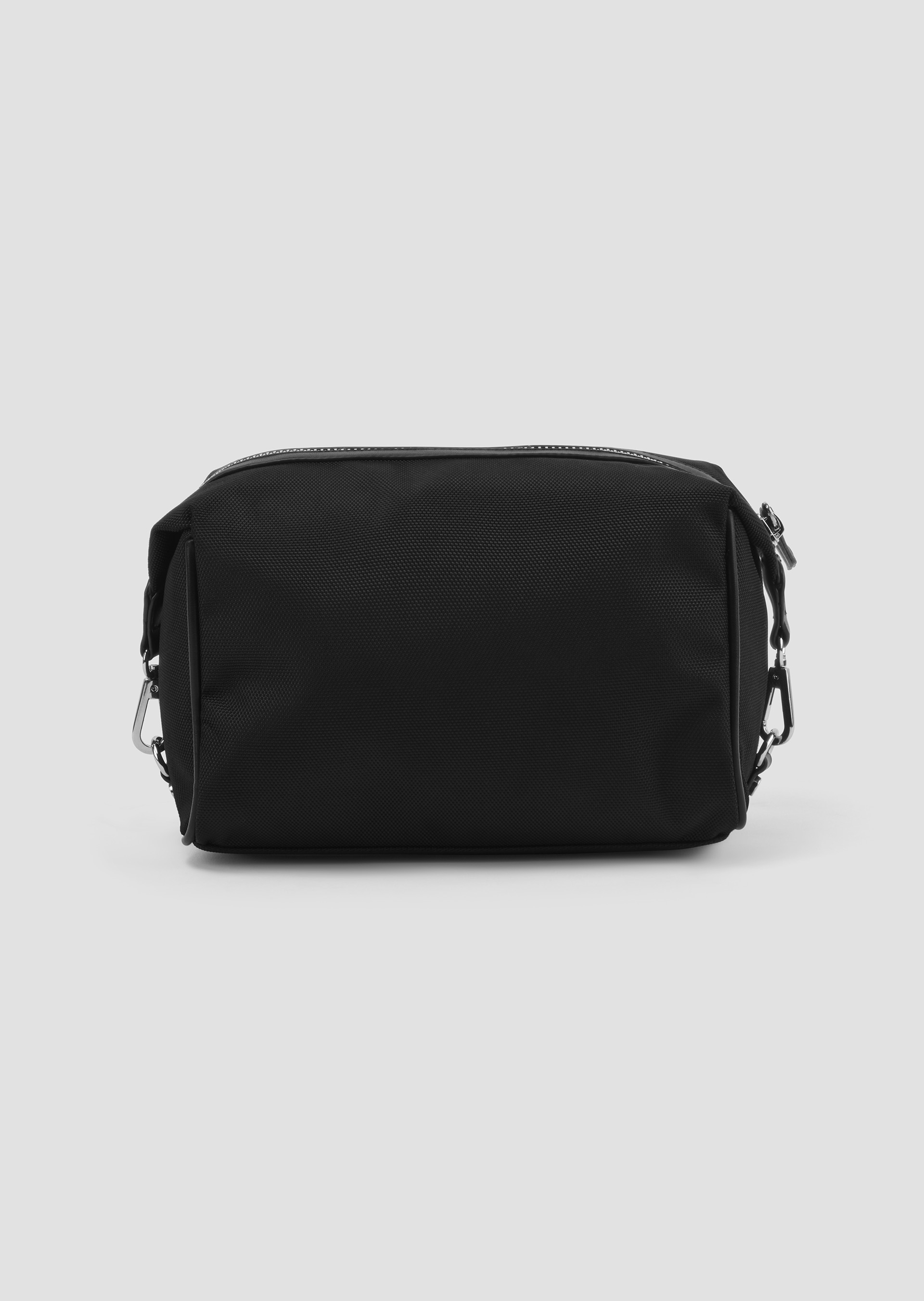 Toiletry bag in poly twill fabric with metal logo second_image