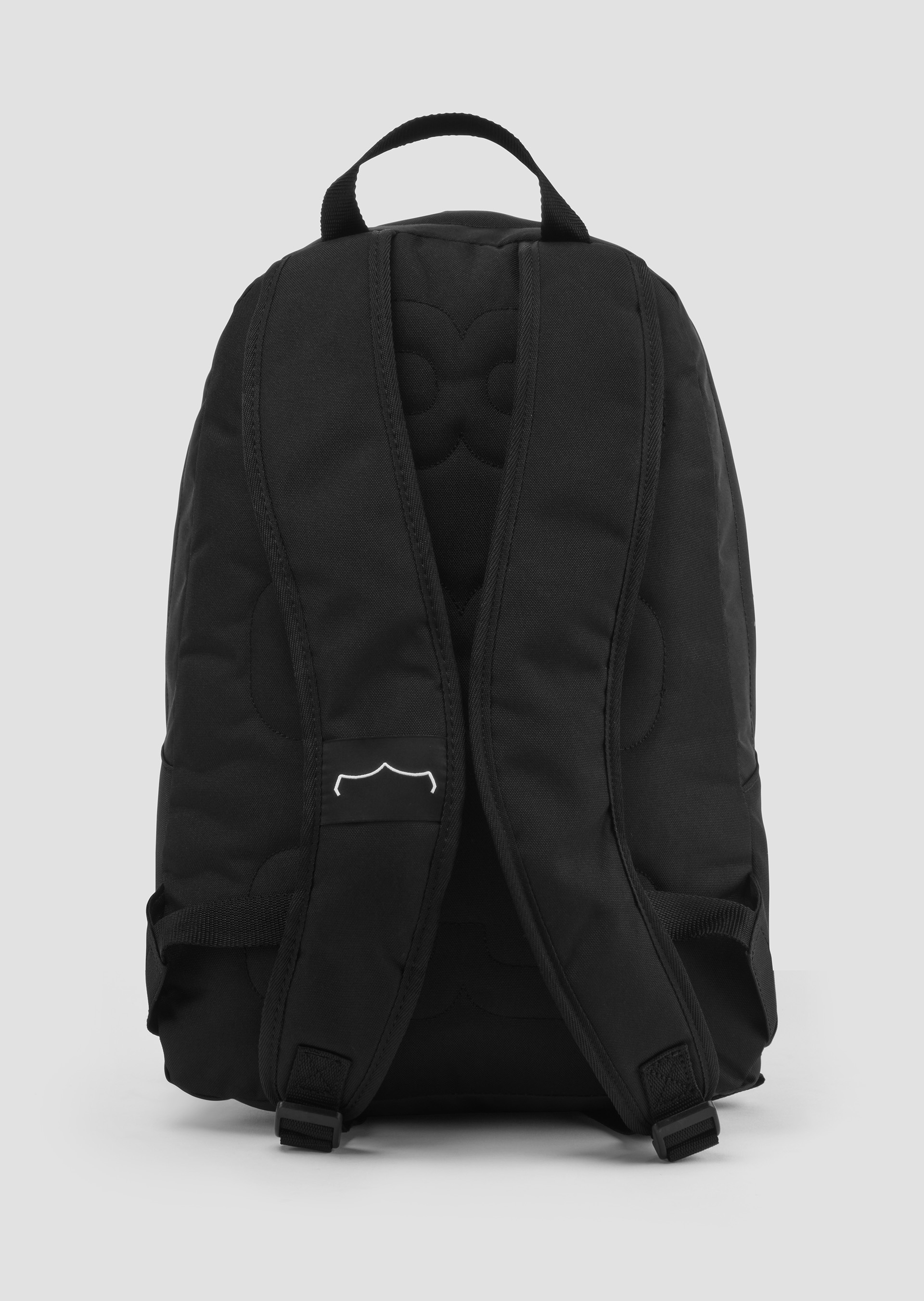 Poly twill backpack with logo on front second_image