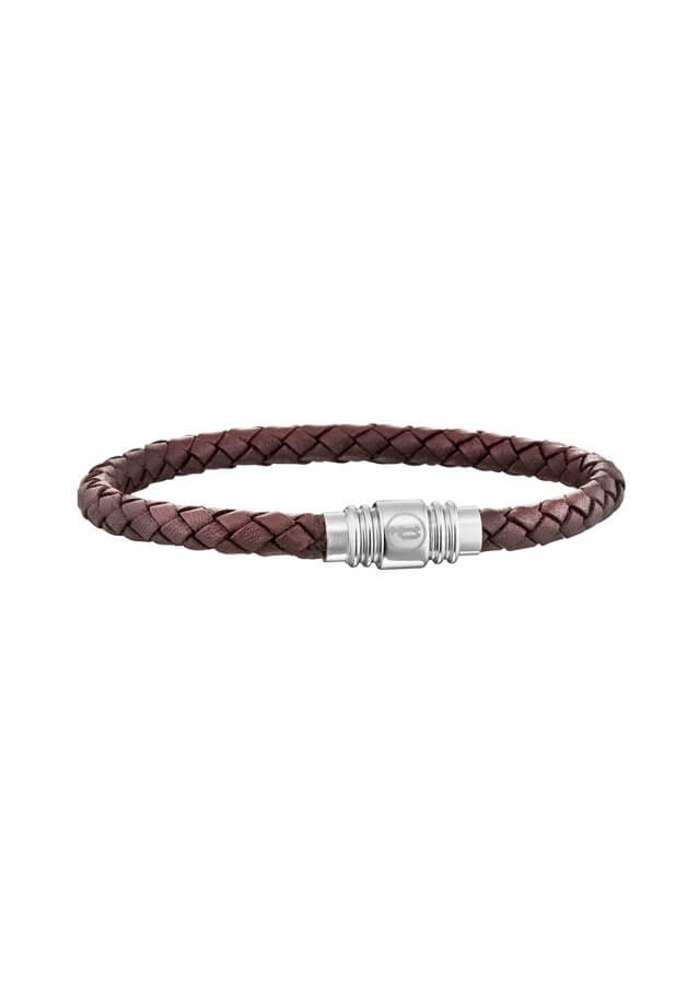 Police STYLE Bracelet with Brown Strap