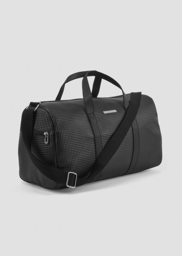 Duffle Bag black with rubberised logo
