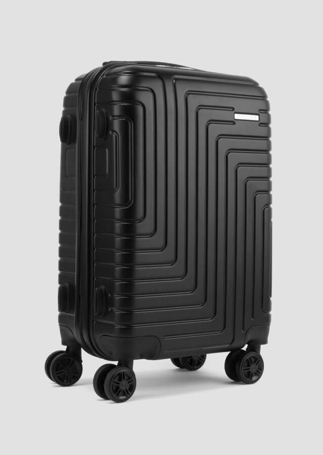 Black Suitcase in ABS with metal logo and TSA closure