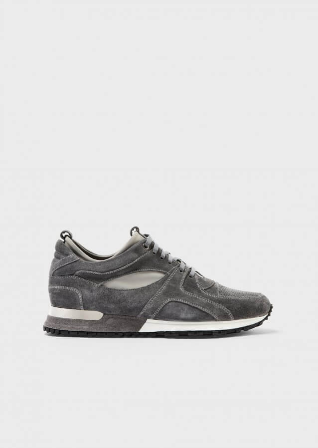Tread Charcoal Suede Leather Sneaker