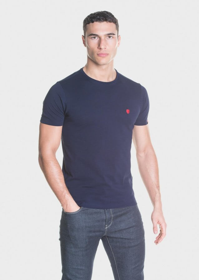 Mercerised cotton piqué T-Shirt with embroidered chest logo