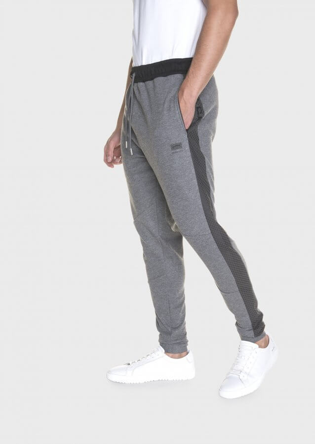 Cheapstow Elasticated Waist With Drawstring Marl Charcoal Jogger
