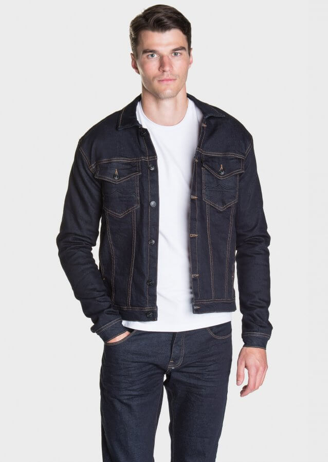Slim-fit denim jacket with pocket detailing