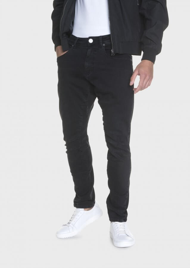 Hazard Mot 409 Twisted Washed Out Black Stretch Jeans