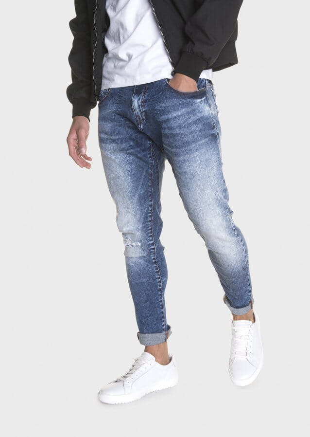 Hazard Mot 611 Twisted Light Wash Stretch Jeans