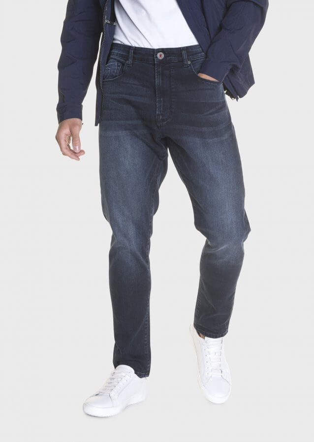 Major 632 Tapered Dark Wash Stretch Jeans