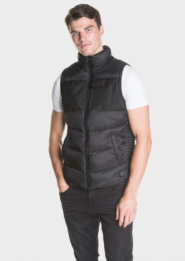 Padded gilet in technical fabric