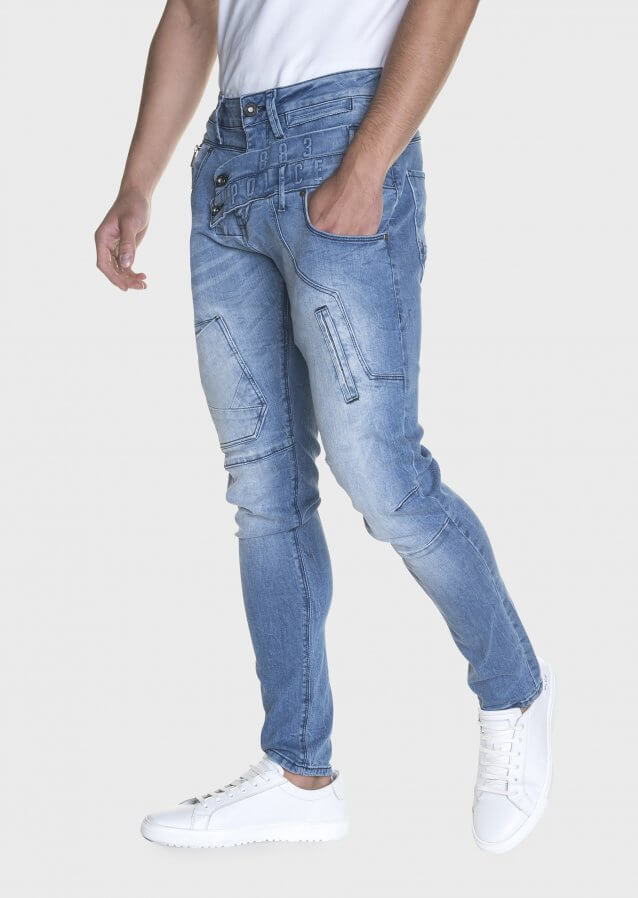 Moriarty ATL 361 Double Waistband Slim Stretched Jeans