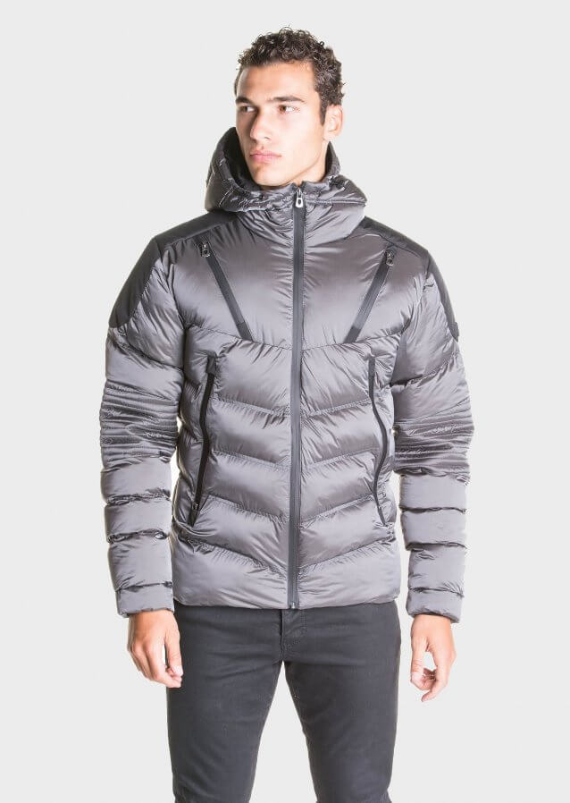 Padded jacket in nylon shell