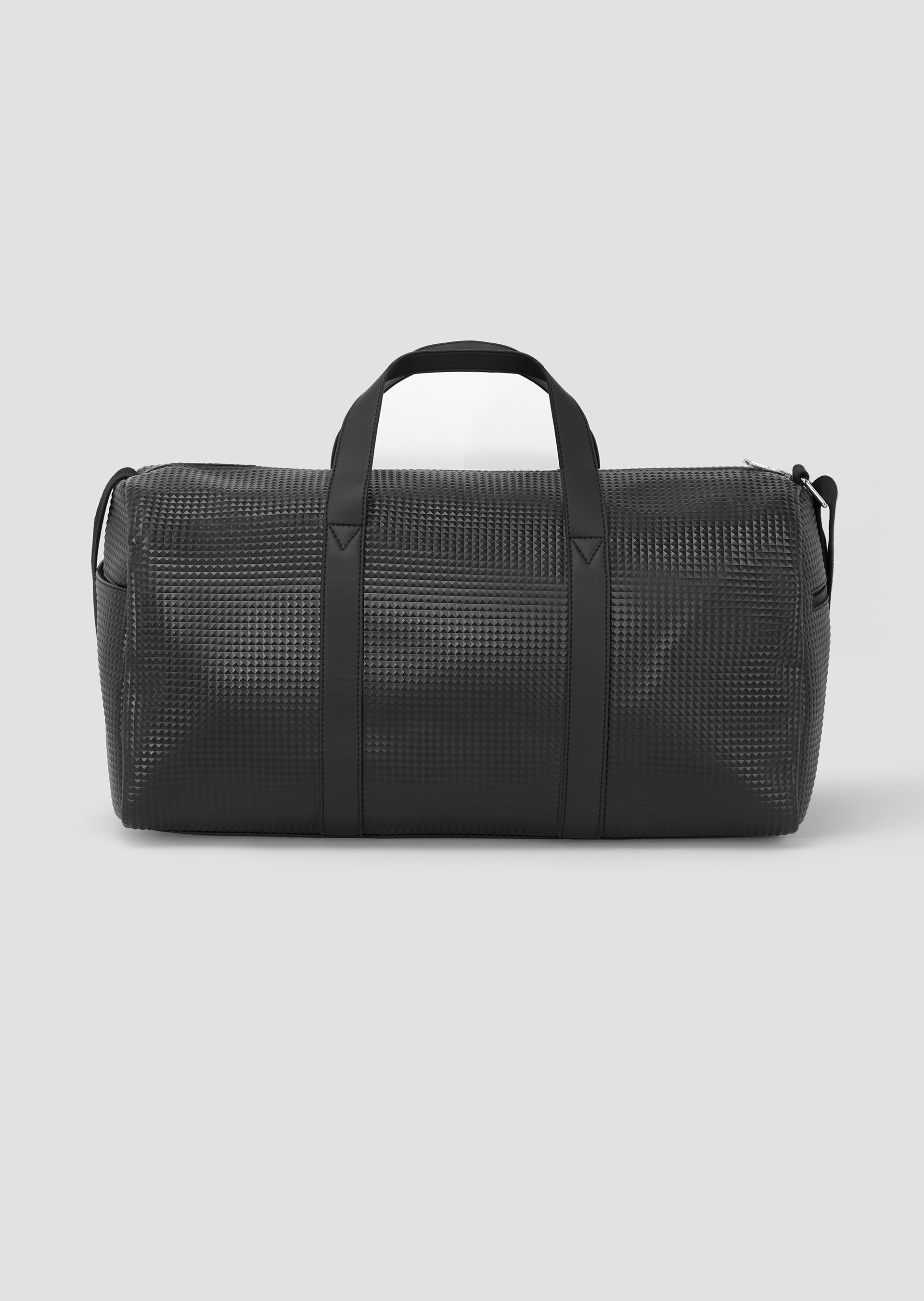 Duffle Bag black with rubberised logo second_image